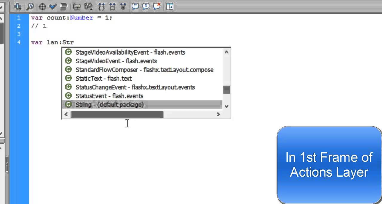 Flash Actionscript Tutorials - Dynamic Buttons to change display text - 11