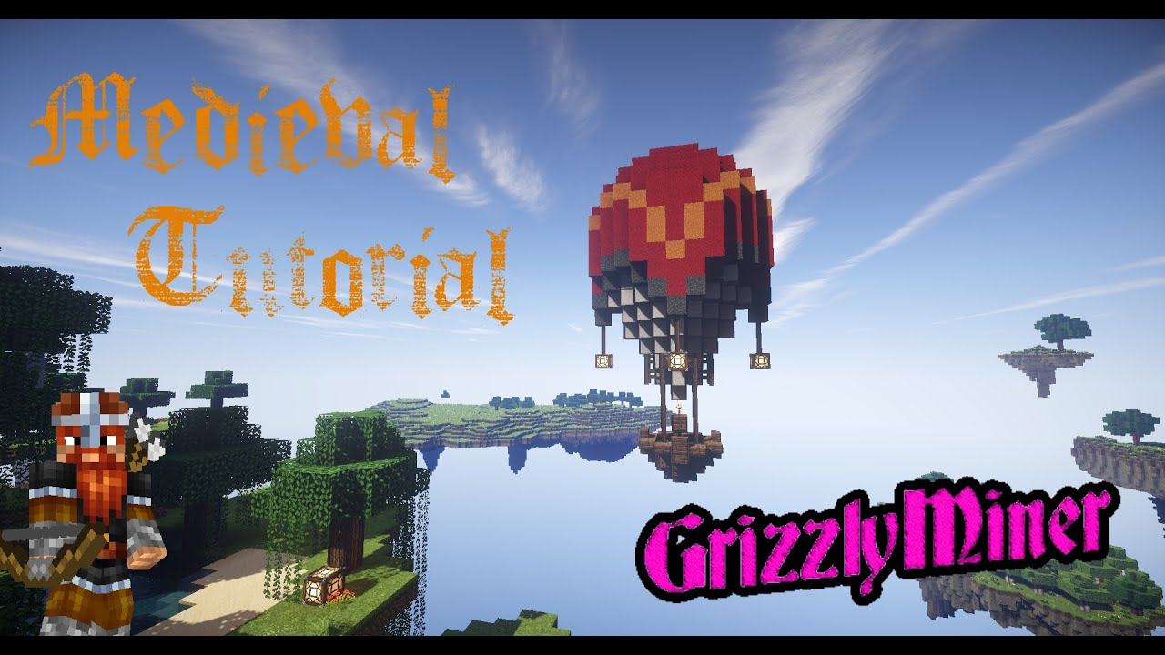 minecraft mittelalter tutorial hei luftballon balloon medieval tutorial youtube. Black Bedroom Furniture Sets. Home Design Ideas
