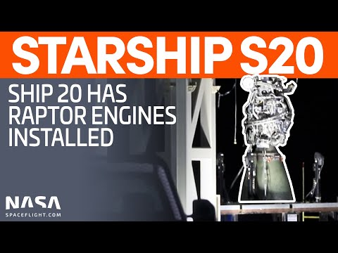 Raptor Engines Installed on Ship 20 Prior to Testing | SpaceX Boca Chica
