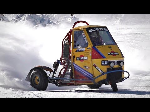 This Three-Wheeled Microcar Is the Ultimate Winter Fun Machine