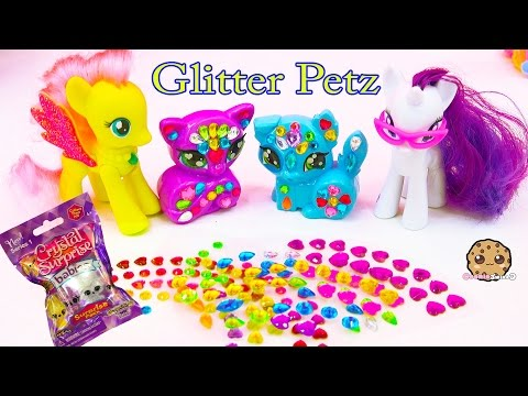 Rainbow Gem Glitter Petz With My Little Pony + Crystal Surprise Blind Bag - Cookieswirlc Video