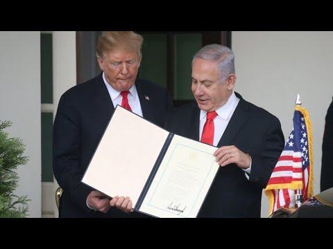 ردود فعل عربية ودولية منددة بالاعتراف الأمريكي بسيادة إسرائيل على الجولان  - نشر قبل 2 ساعة