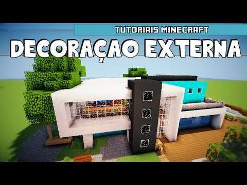 Tutoriais minecraft decora o externa da casa moderna 6 for Casas modernas 6 minecraft