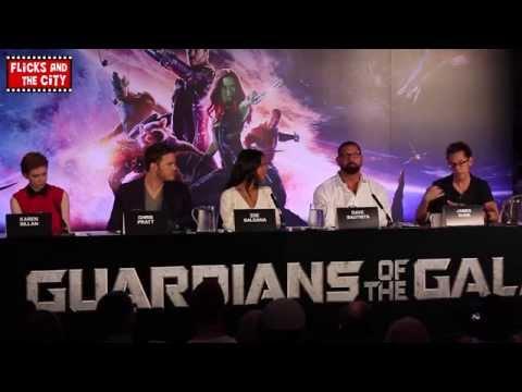 Guardians of the Galaxy Interviews - Chris Pratt, Zoe Saldana, Karen Gillan & Dave Bautista