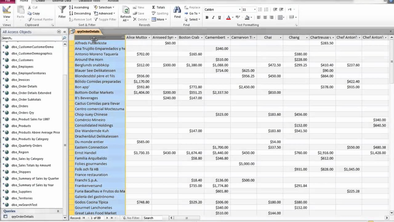 Access 2010 vba create pivot table for Table design view in access 2010