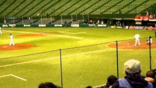 吉原道臣-荒川雄太(2010年プロ野球12球団合同トライアウト@西武ドーム)