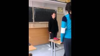 Наш обычный урок русского языка