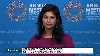 IMF Expects Global Slowdown With Muted Inflation, Chief Economist Gopinath Says