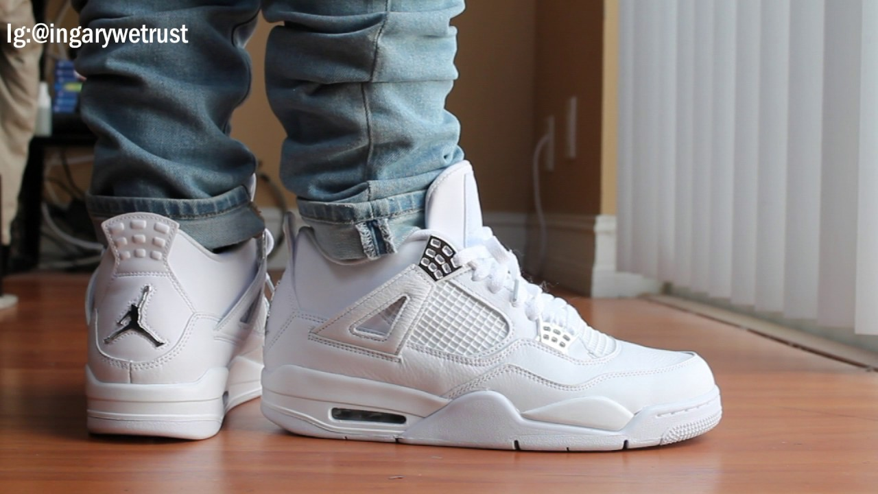 air jordan 4 pure money on feet review youtube. Black Bedroom Furniture Sets. Home Design Ideas