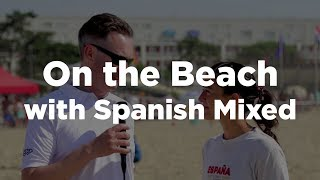 On the Beach with Cristina from Spain Mixed #wcbu2017