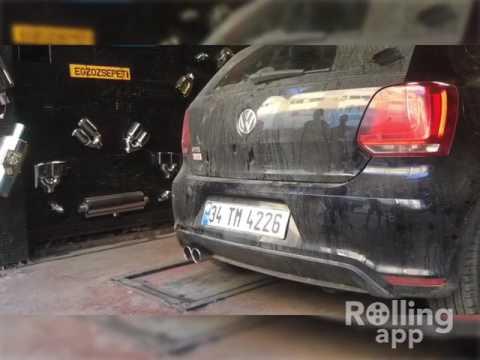 Volkswagen Polo Mk5 6r Gti 1.4 tsi, Kumandalı Varex Egzoz Sesi