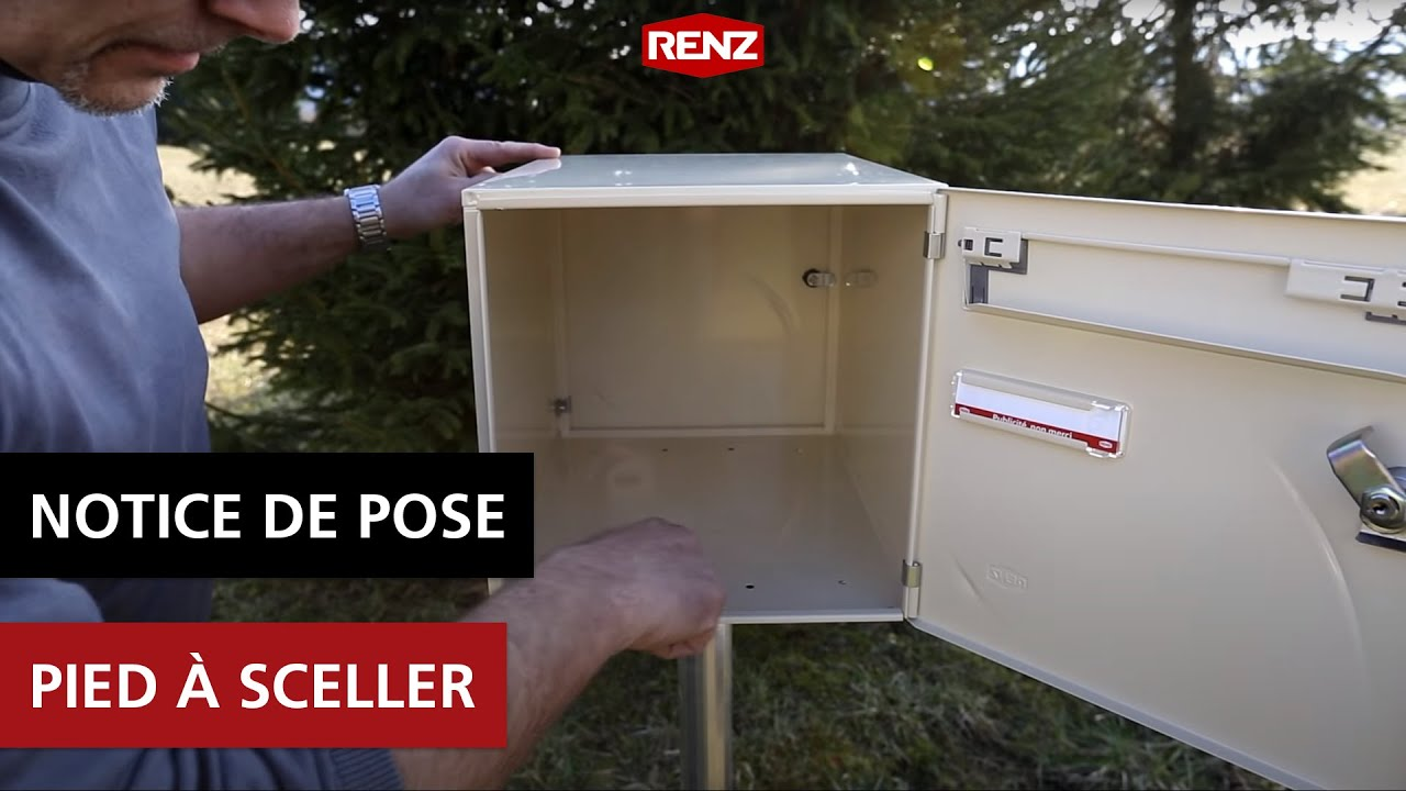 Notice de pose pied sceller youtube for Portique exterieur bois