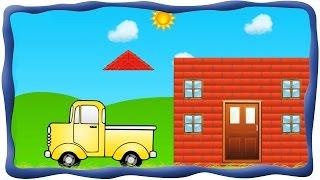 Строим дом - строительство кирпичного дома, Маленький строитель. Развлекательное видео для детей