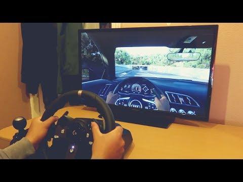 Forza Horizon 3 - Using Logitech G920 Steering Wheel - AUDI R8 V10 PLUS 2016 - Xbox One