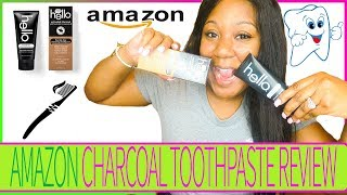 HELLO CHARCOAL TOOTHPASTE | AMAZON REVIEW