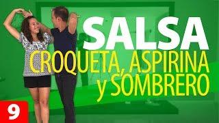 2 PASOS y 1 FIGURA de SALSA para Principiantes: Croqueta, Aspirina y Sombrero | Cómo Bailar Salsa