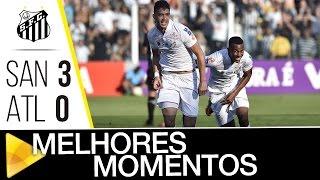 Santos 3 x 0 Atlético-MG | MELHORES MOMENTOS | Brasileirão (14/08/16)