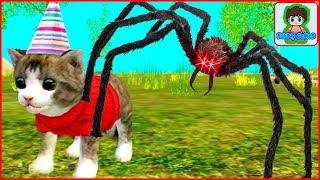 СИМУЛЯТОР Маленького КОТЕНКА #1 Сражение с пауком Мультик игра для детей про кошку от Фаника