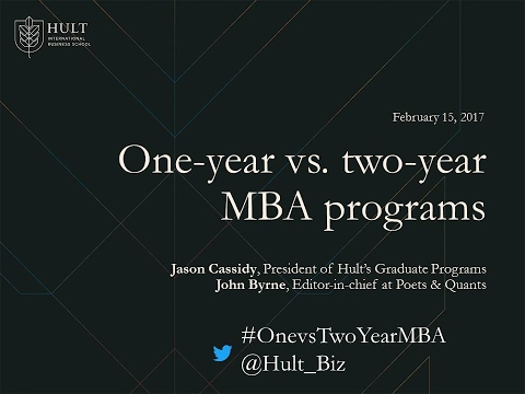 One-year vs. two-year MBA programs: Which one is right for you?