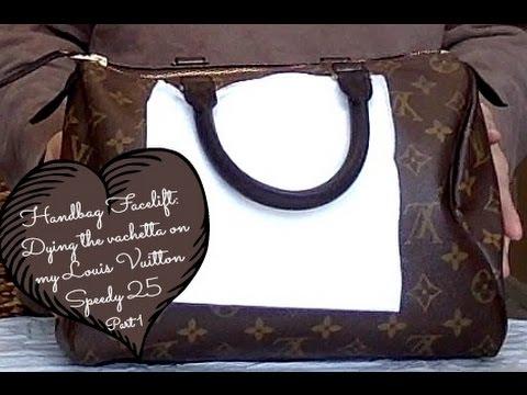 Handbag Facelift | How I dyed the vachetta on my Louis Vuitton Speedy 25 | Part 1