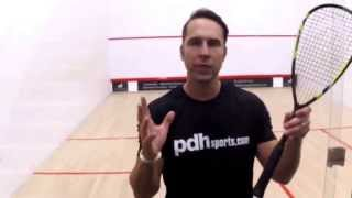 How to hold your squash racket - squash coaching tip by PDHSports.com