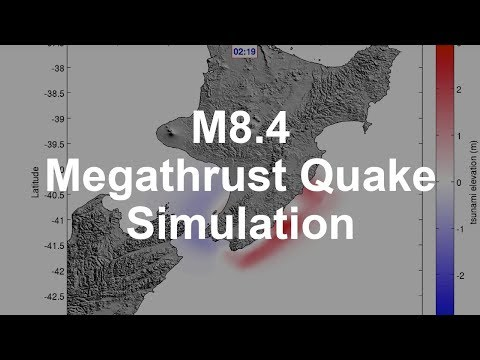 Simulation of a Magnitude 8.4 Megathrust Quake in New Zealand
