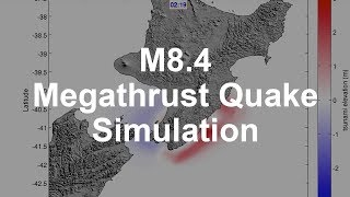 Simulation of a Magnitude 8.4 Megathrust Quake in New Zealand