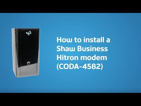 How to self install your Hitron modem