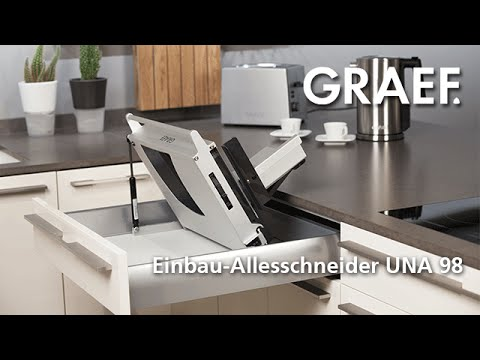 graef einbau allesschneider una 98 youtube. Black Bedroom Furniture Sets. Home Design Ideas