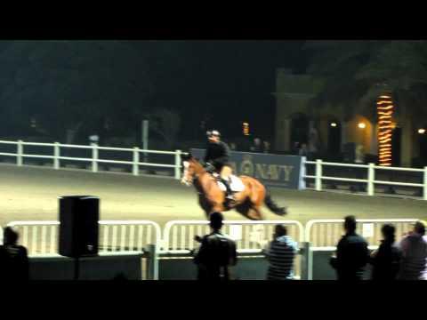 Farhang Sadeghi and Tienes Jumping Car at Dubai Polo and Equestrian Club