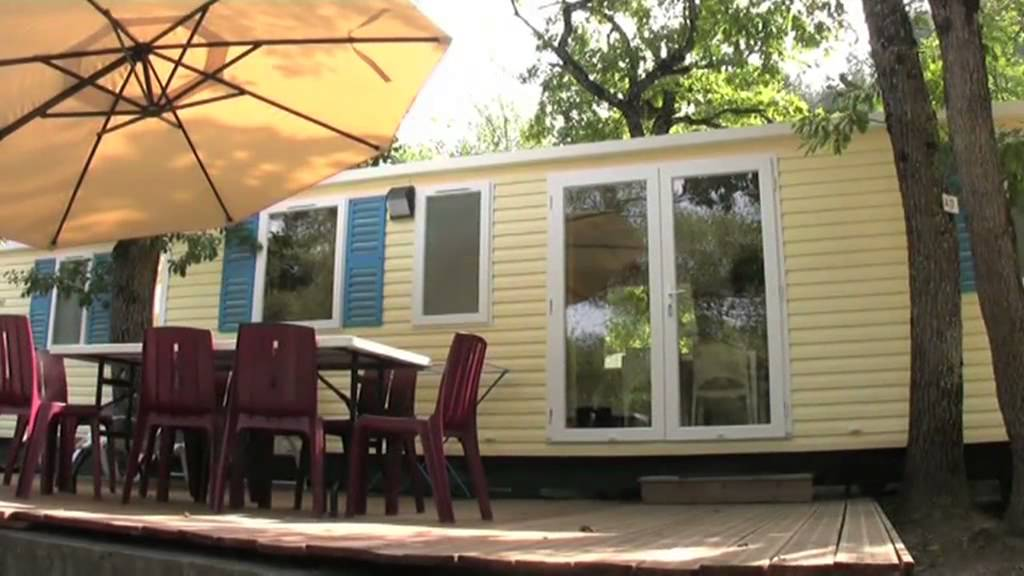 Camping la pin de mobilhome 3 chambres youtube for Mobilhome 3 chambres