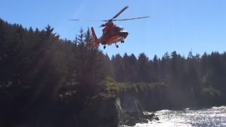 MH-65 Dolphin Rescue at Norton Gulch, Coos Bay, Oregon