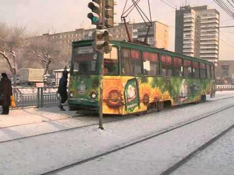 Общественный транспорт замерз в Красноярске. Новости Афонтово