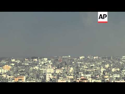 Huge explosions, flares on Gaza skyline as PLO ceasefire offer falls on deaf ears
