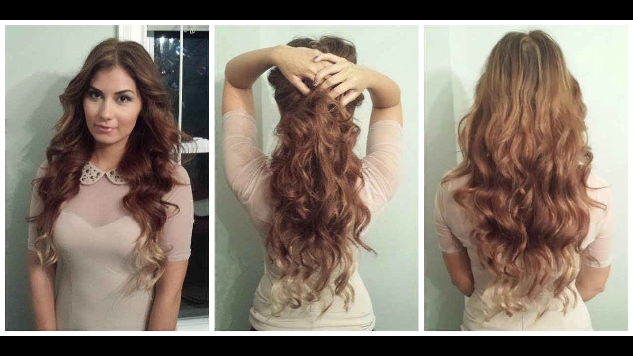 Ombre With Hair Extensions Less Than 2 Minutes To Do Youtube
