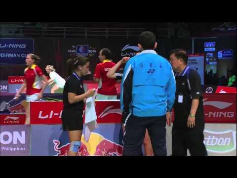 Group Stage (Level 2) - WD (Highlight) - Bibik/Chervaykova vs Eva Lee/Obanana - 2013 Sudirman Cup