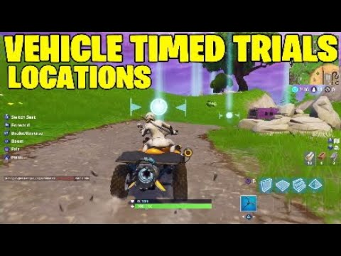 Fortnite Vehicle Timed Trials Locations Week 10 Challenges Youtube