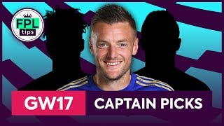 GW17: TOP 3 FPL CAPTAINCY PICKS | Gameweek 17 | Fantasy Premier League Tips 2019/20