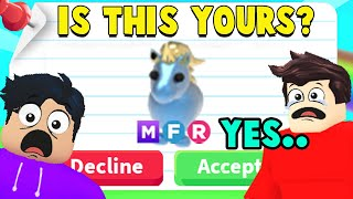 *HONESTY TEST* is this MEGA NEON DIAMOND UNICORN yours? (adopt me noob scammers)