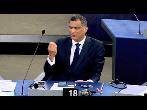Eurosceptic MEP makes obscene gesture in parliament