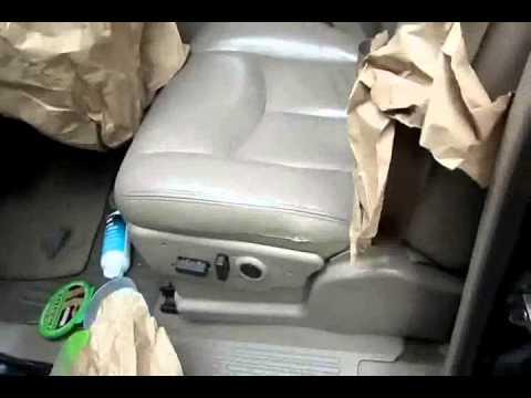 sem paint touch up leather car truck seat youtube. Black Bedroom Furniture Sets. Home Design Ideas