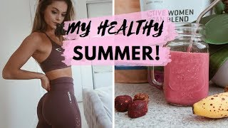 MY HEALTHY SUMMER // Grocery haul, new recipies & workout