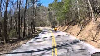 Yellow Wolf on his GL1800 at The Tail of the Dragon from Deals Gap.wmv