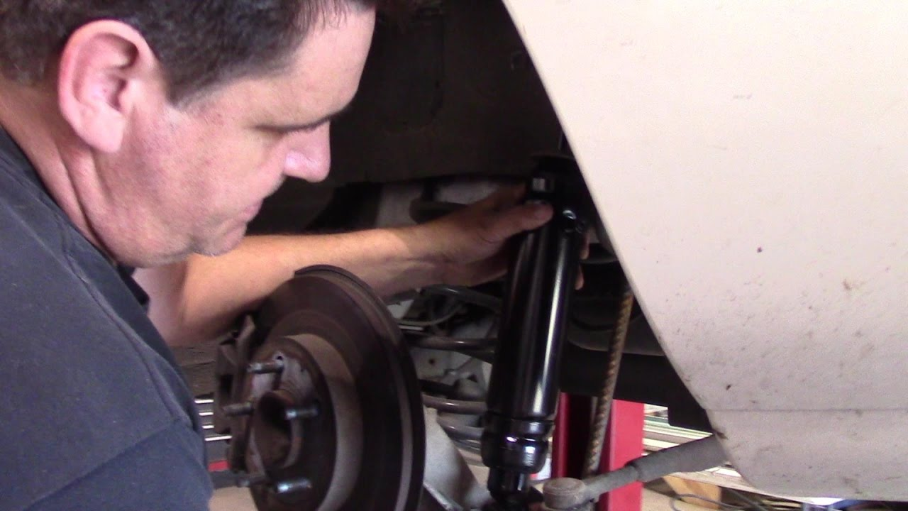 2000 Buick Lesabre Rear Level ride Shock replacement - YouTube