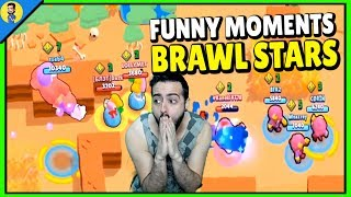 REACCIONANDO A BRAWL STARS - Funny Moments & Glitches