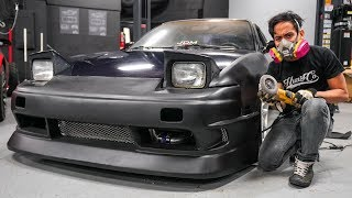 S13 Front Bumper And Widebody Install!