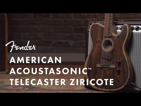 American Acoustasonic Telecaster Ziricote | Fender