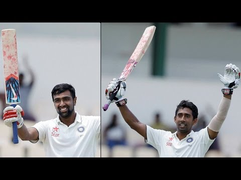 Ashwin & Wriddhiman Saha slams centuries in 3rd Test against West Indies| Oneindia News