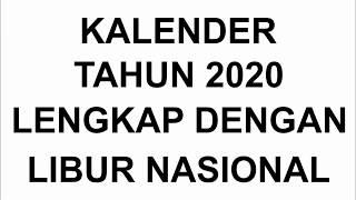 Gambar cover KALENDER TAHUN 2020 LENGKAP DENGAN HARI LIBUR NASIONAL