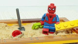 Lego Spiderman Brick Building Sandbox Superhero Animation For Kids